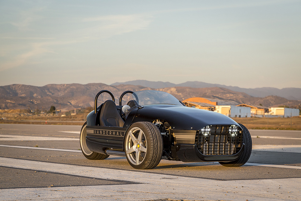 Vanderhall Venice Brings The Three-Wheeled Roadster Closer To The ...