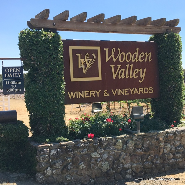 sign at Wooden Valley Winery & Vineyards in Fairfield, California