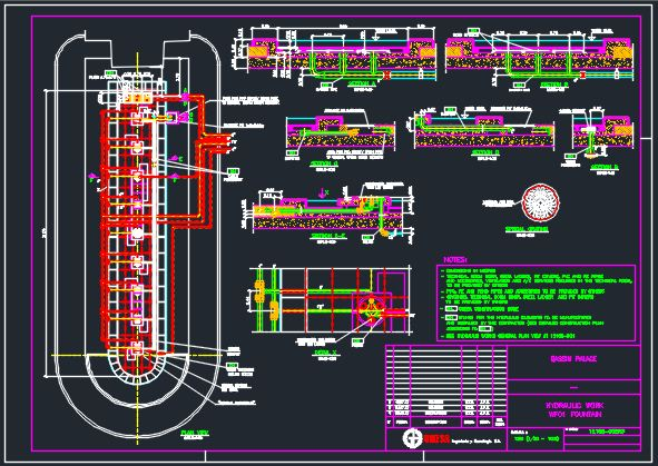 Fountains AutoCAD Drawings and Details for Plumbing and Drainage