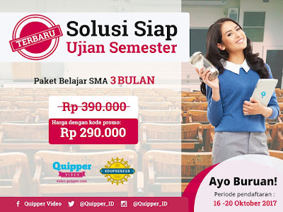 Promo Ujian Akhir Semester Quipper Video