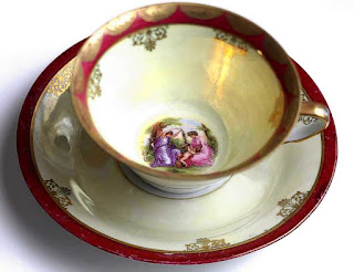 Vintage German Tea Cup and Saucer