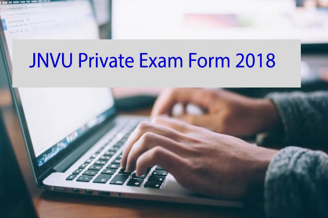 JNVU Private Examination Form 2018