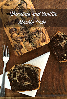 Vegan Chocolate and Vanilla Marble Cake