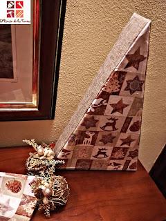 diy arbol navidad con cartón