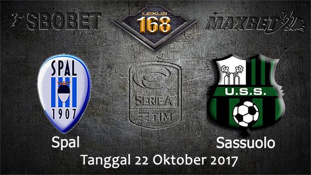 PREDIKSIBOLA - PREDIKSI TARUHAN BOLA SPAL VS SASSUOLO 22 OCTOBER 2017 (SERIE A)