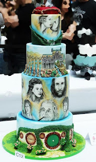 Lord of The Rings LOTR Characters Painting on the Wedding Cake