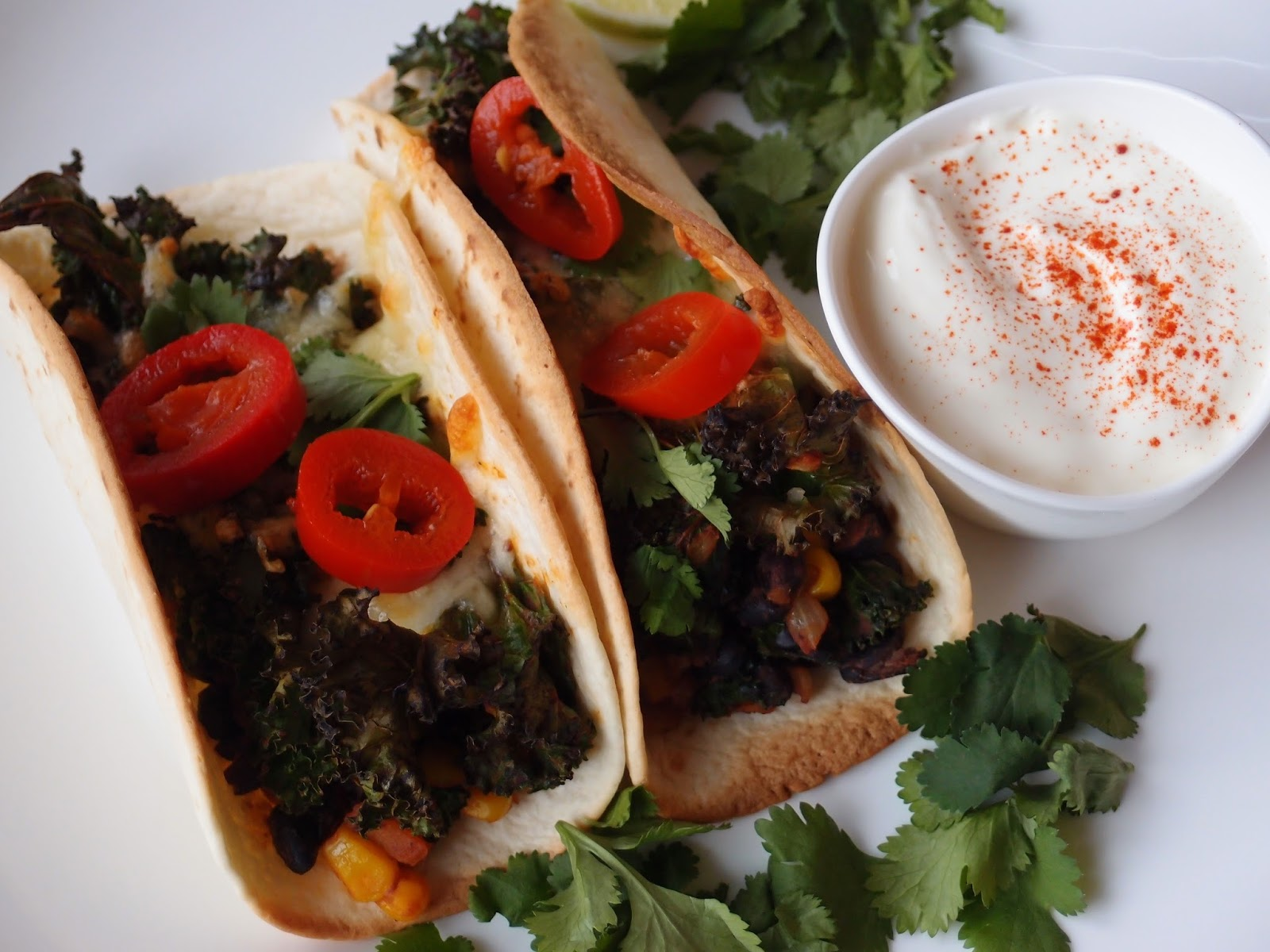 The VegHog: Black bean and kale tacos