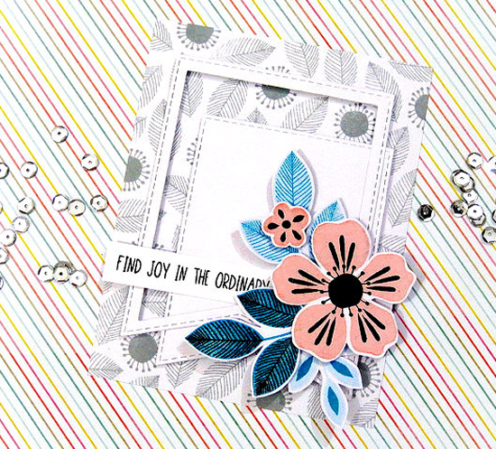 Flashy Florals stamp set and Die-namics, Stitched Jumbo Fishtail Banner STAX Die-namics  - Ashwini #mftstamps