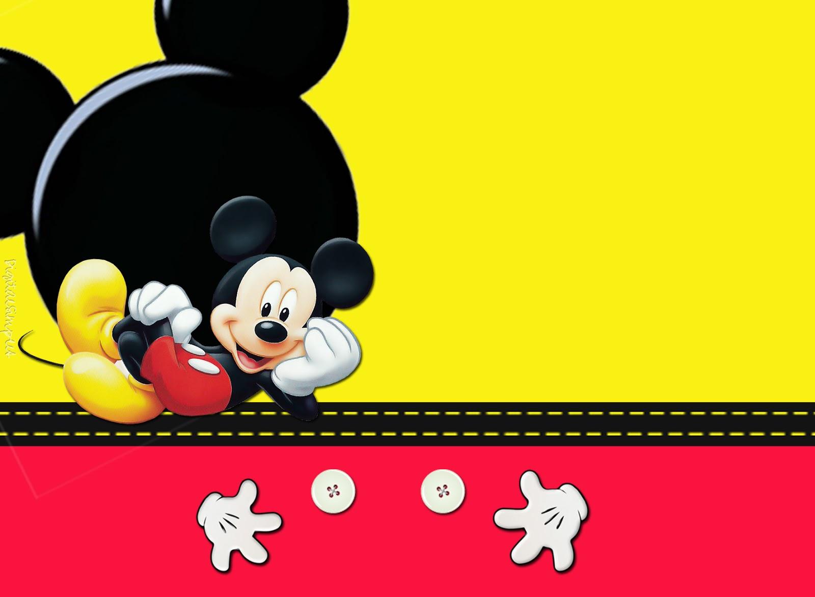 Convite de Aniversário Tema Mickey Elo7 8d21694b7a89b