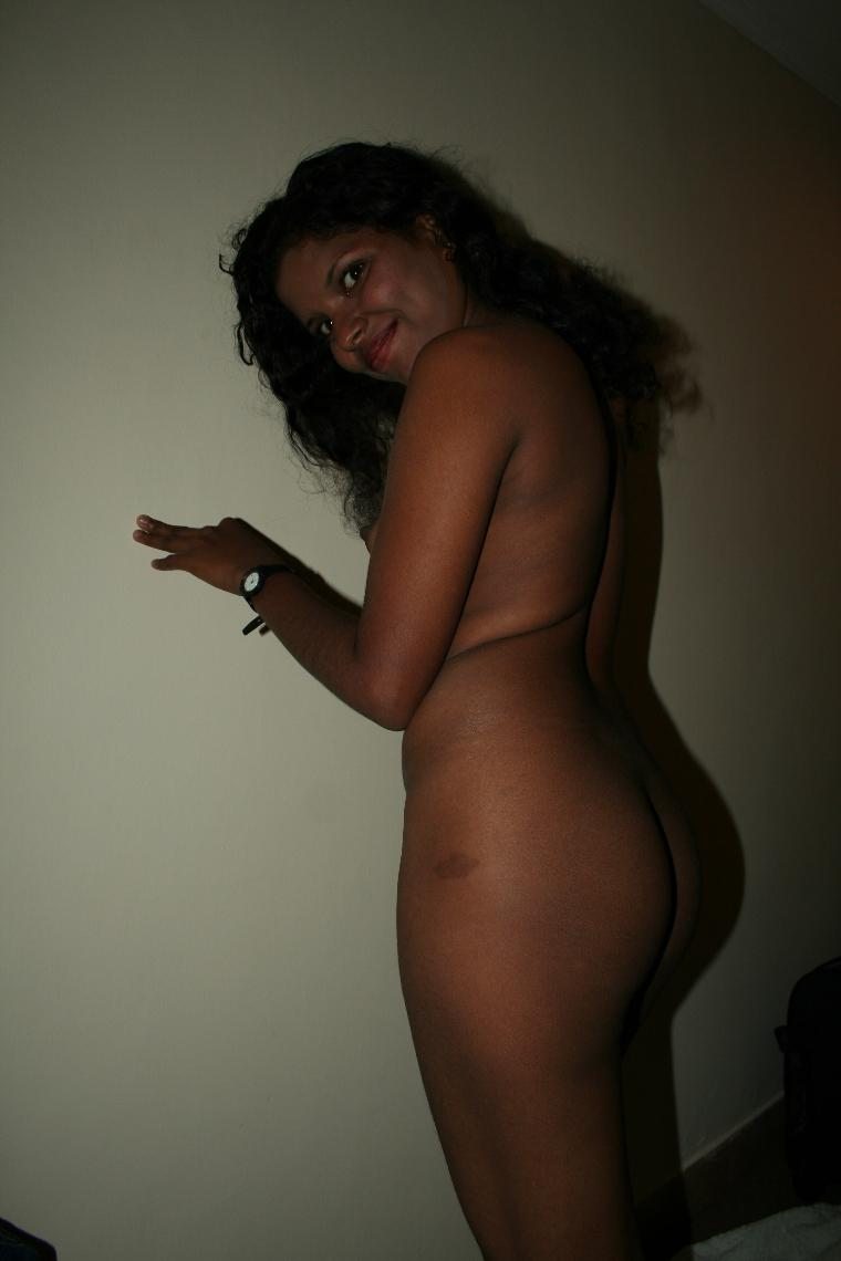 Nude aunty with black tits