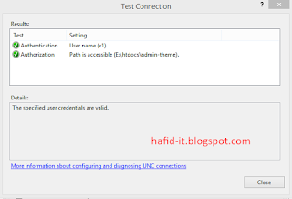 Sukses test setting penambahan website