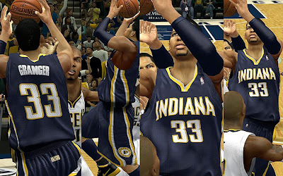 NBA 2K13 Indiana Pacers Away Jersey Patch