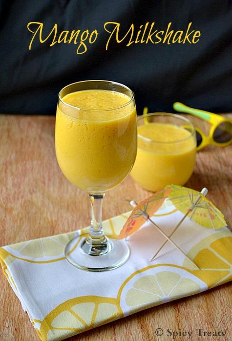 Spicy Treats: Mango Milkshake / Mango Drinks - Summer ...