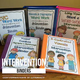 Phonics Intervention Binders for RTI