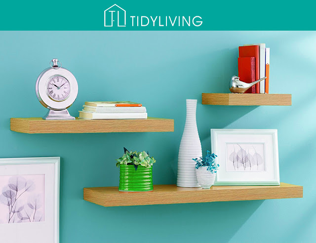 floating shelves home decor from Tidy Living