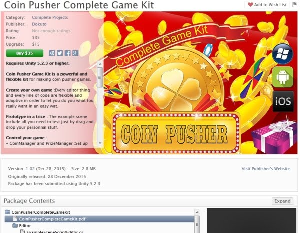 Coin Pusher Complete Game Kit Unity Asset Free Download - Android