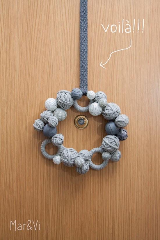 Mar&Vi. Corona Navidad en gris