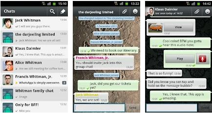 android market app: WhatsApp Messenger