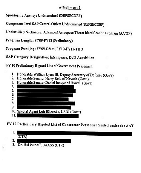 Harry Reid Bigoted List Via Knapp - Elizondo Name Unredacted