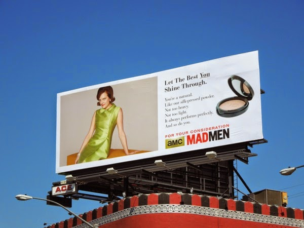 Peggy makeup Mad Men vintage Emmy billboard 2014