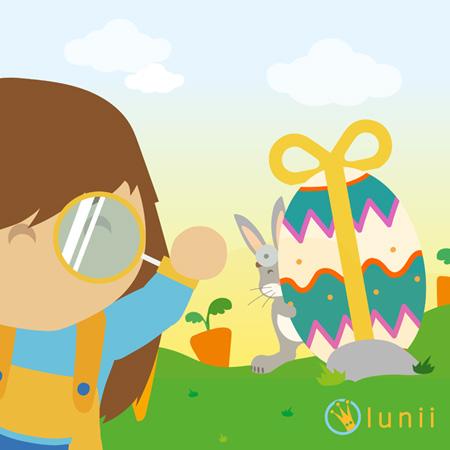 A la recherche du lapin de Pâques avec Lunii