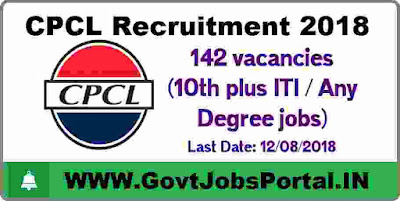 CPCL Recruitment 2018