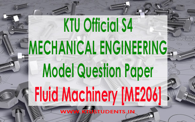 KTU Fluid machinery me206 model question paper me