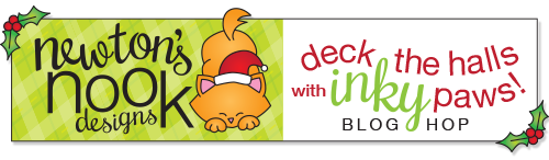 3rd Annual Deck the Halls with Inky Paws Blog Hop! Newton's Nook Designs #newtonsnook