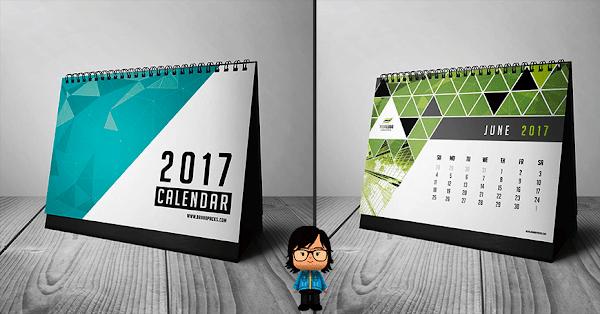 Plantilla Calendario 2017 editable gratis