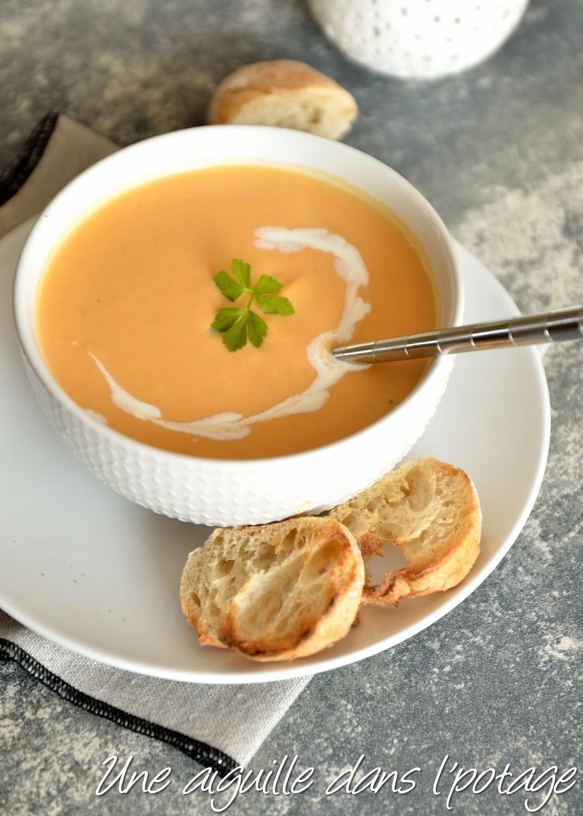 une aiguille dans l 39 potage soupe de carottes aux lentilles corail. Black Bedroom Furniture Sets. Home Design Ideas