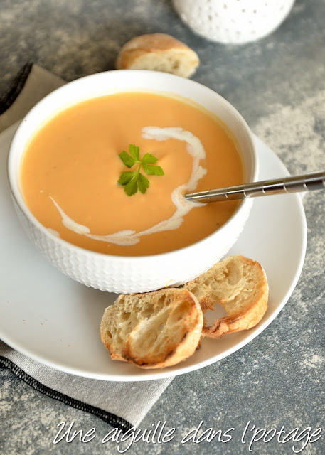 Soupe de carottes aux lentilles corail