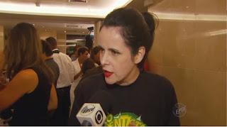 """Fernanda Young durante o lançamento da série """"O Dentista Mascarado"""", em 2013 — Foto: Reprodução/EPTV"""