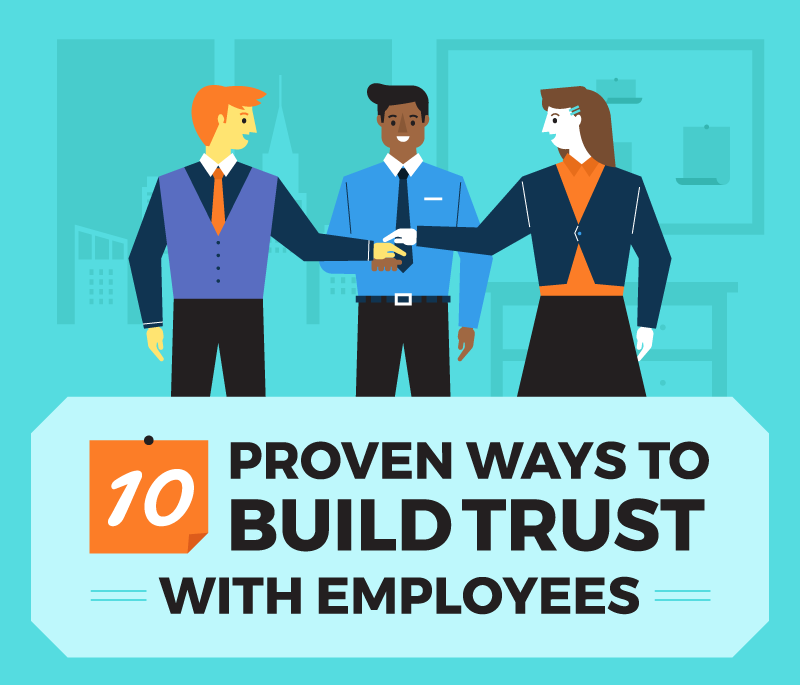 Trust is the foundation of success. If you are an athlete, you have to trust your teammates. If you are a musician, you have to trust your counterparts. If you are an entrepreneur, you have to trust the people you work with. And if you're leading a company, you have to build the trust of your employees. Every problem companies experience with their employees springs from the same root cause: there is too little trust in the environment, so there is too much fear. Too little trust + too much fear = toxic work environment. Here are ten proven ways to build trust:
