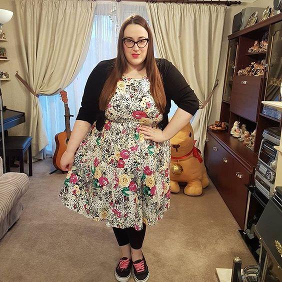 Lindy Bop animal floral print dress