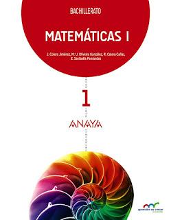 Libro Matemáticas 1º Bachillerato Anaya Proyecto Aprender es Crecer