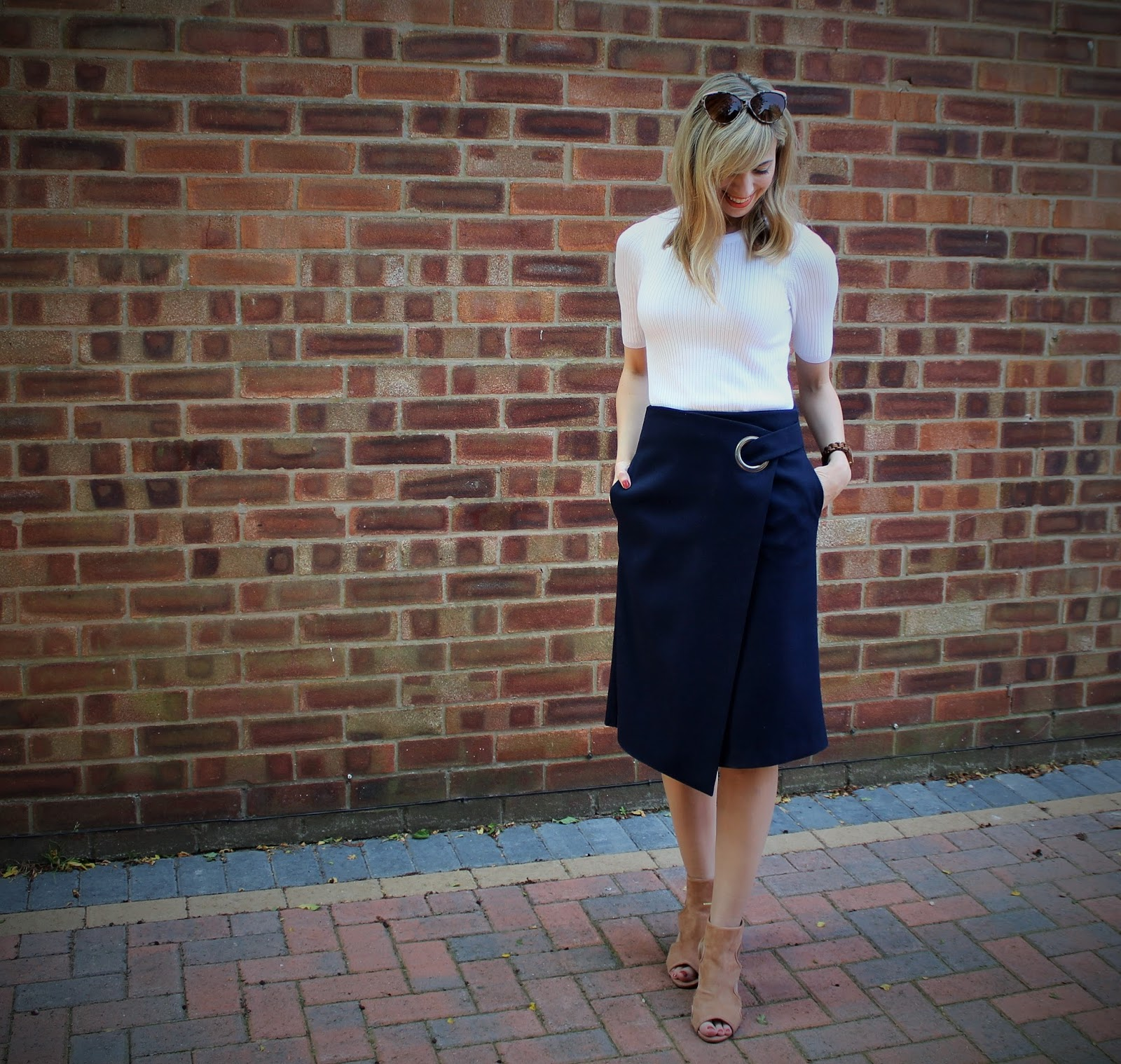 The Wrap Midi 3 - OOTD featuring Topshop skirt and River Island shoes