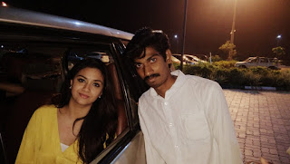 Keerthy Suresh in Yellow Dress with a Fan