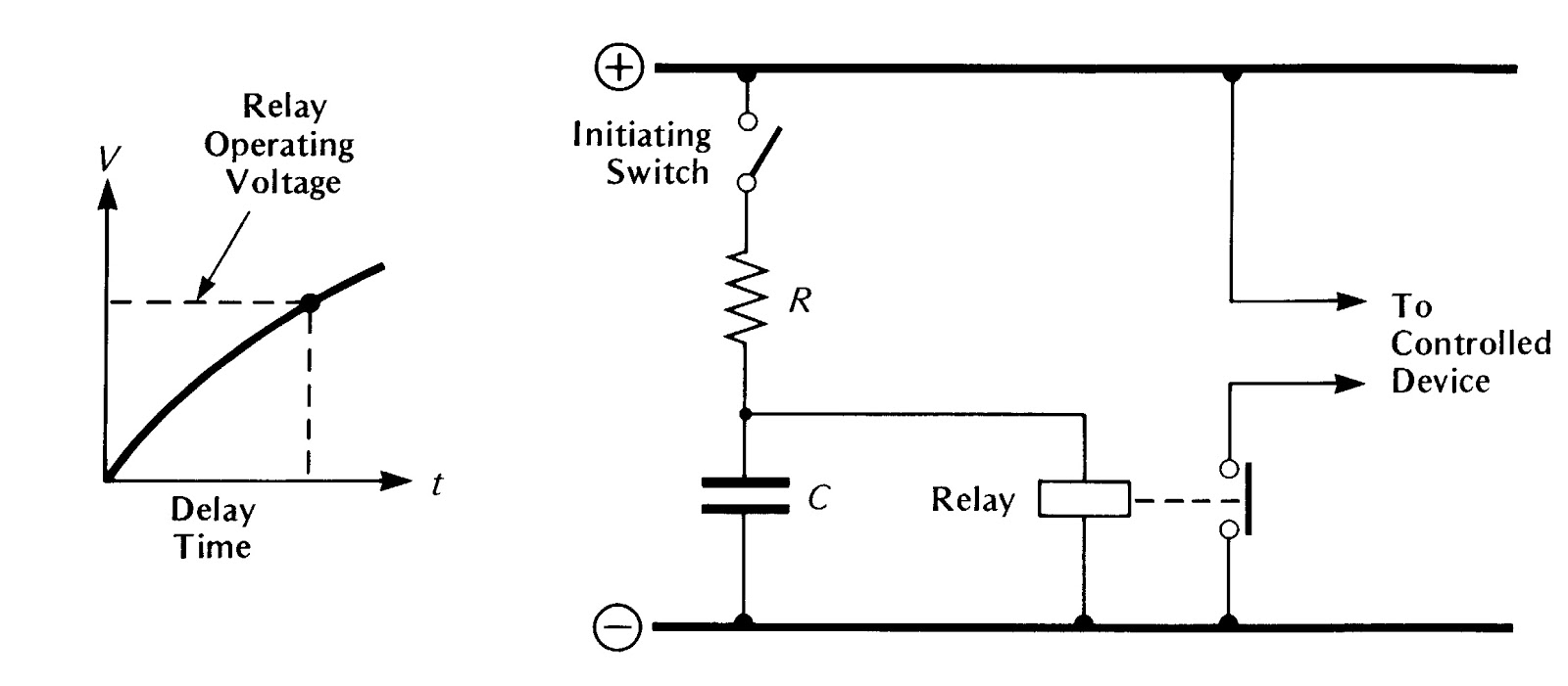 r c time constant circuit diagram