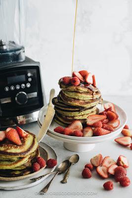 Matcha Pancakes (Green Tea pancakes)