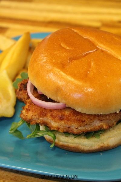 Pork Schnitzel Sandwiches #recipe #sandwich #schnitzel #pork