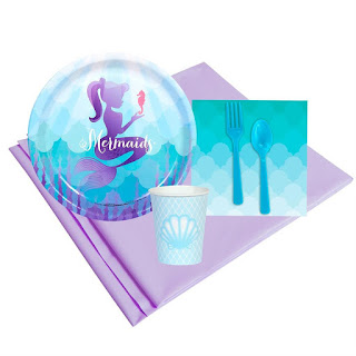 Mermaid Under The Sea 8 Guest Party Pack