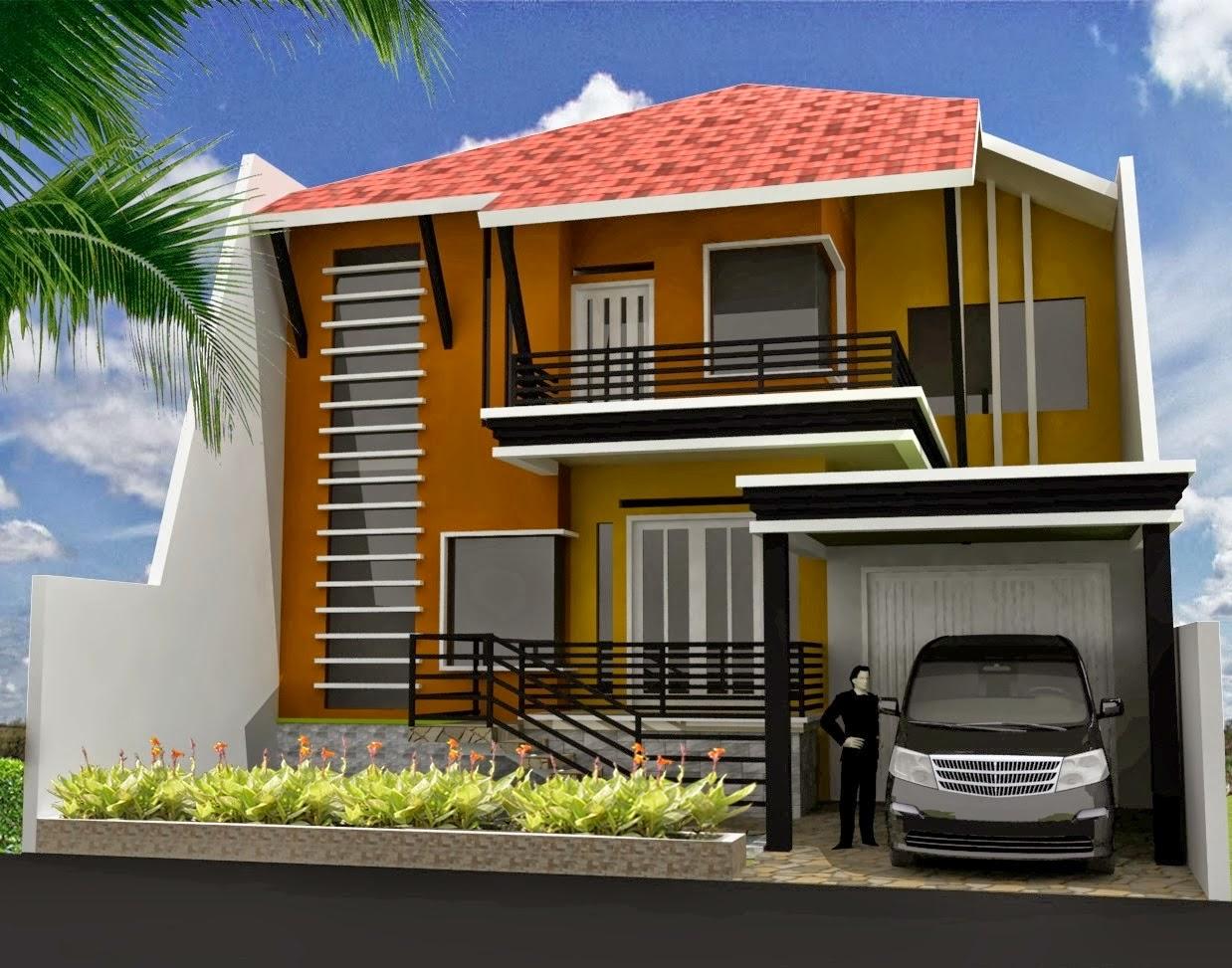 Minimalis 2 lantai modern elegan terbaik 2014 desain rumah minimalis - Model Rumah Minimalis 2014