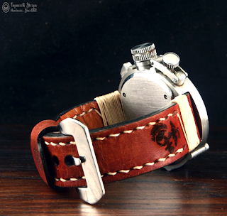 Handmade leather watch strap T 826