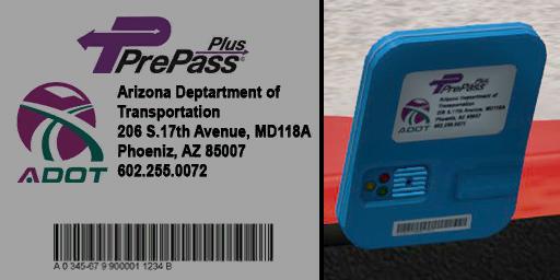ats prepass transponder logos screenshots 2, Arizona PrePass