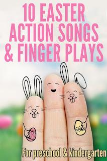 10 Canciones de acción y juegos de dedos sobre pascua para infantil