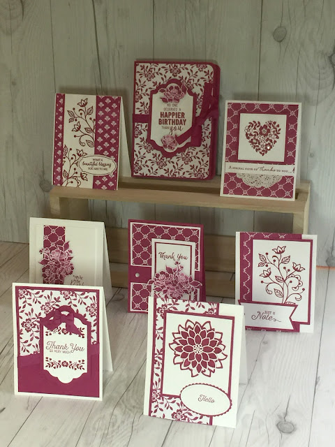 Hand made book box for cards using Stampin' Up! Fresh Florals