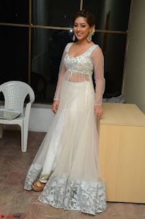 Anu Emmanuel in a Transparent White Choli Cream Ghagra Stunning Pics 002.JPG