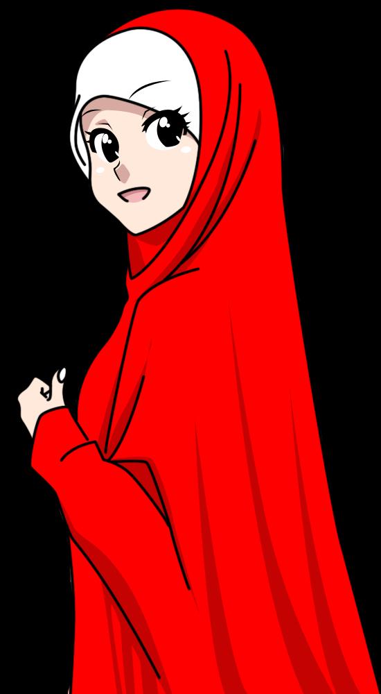 Wallpaper Cartoon Islamic Girl Fizgraphic Freebies Muslimah Bertudung Labuh Cantik