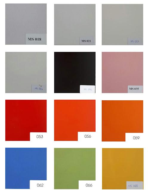 bảng màu melamine đơn sắc