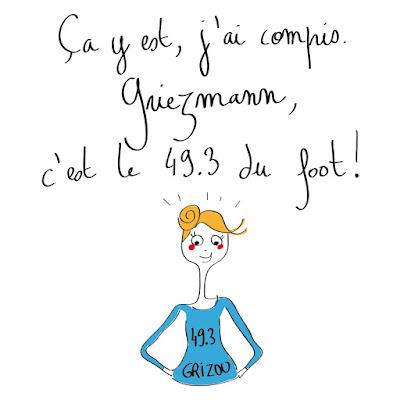 49.3 du foot, agathe, albane devouge, dessin, foot, griezmann, humour, illustration, illustratrice,